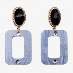 Statement Acrylic Square Drop Earrings Art Deco