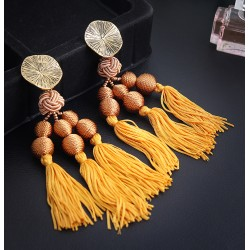 Big XXL Statement Tassel Fringed Earrings, colours
