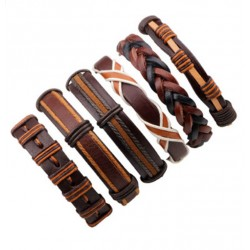 Genuine Leather Bracelet Set For