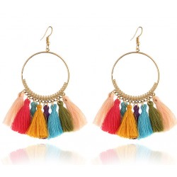 Bohemian Handmade Statement Tassel Earrings Chira