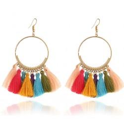 Pendientes con flecos multicolores Chira
