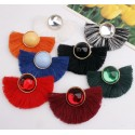 Acrylic Beads Statement Fringe Drop Earrings