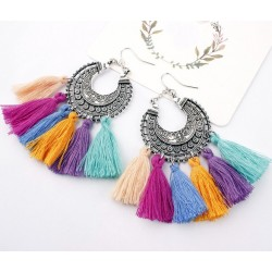 Bohemia Vintage Long tassel Fringe earrings Daugava