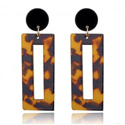 Geometric Square Maxi earrings Animal Print