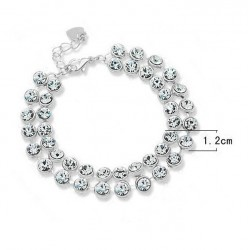 Elegant Bracelet with Crystals