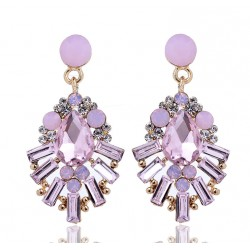 Crystal Waterdrop Statement Earrings