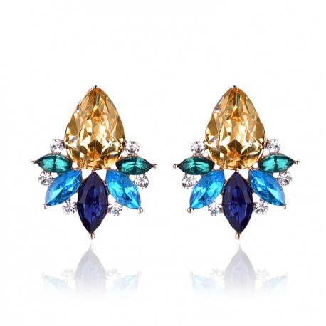 226317310 Colorful Acrylic Crystal Stone Stud Earrings Crystal Pineapple