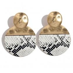 Geometric Leopard Stud Earrings For Women Safari Serie II