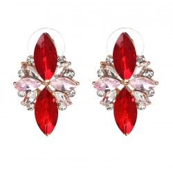 Colorful Crystal Stud Earrings Party Jewelry