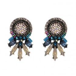 Colorful Crystals Fashion Earrings