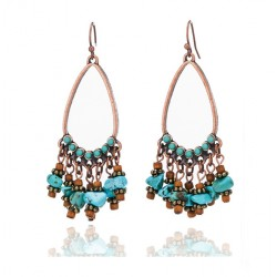 Vintage Drop earrings with Natural Turquoise Stones