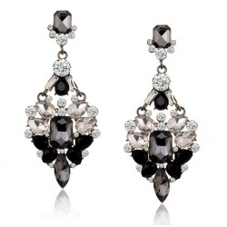 Big Crystal Rhinestone Stud Earring Fantasy II