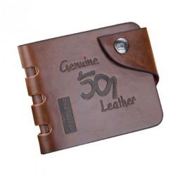 Cartera billetera marrón BALLERRY 501 en piel y polipiel PU