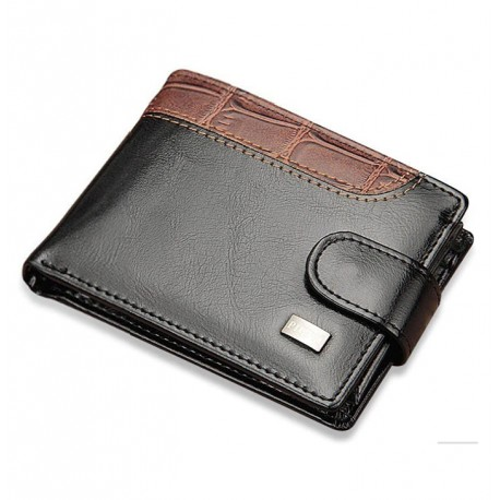 Small Wallet with Coin Pocket and card Holder for Men in PU Leather