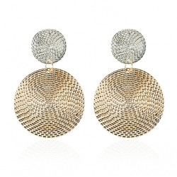 Geometric Round Coin Earrings For Women