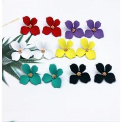 Pendientes de moda, en forma de flor Aleluya, disponible en varios colores