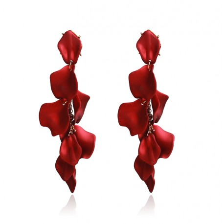 Long Trendy Tassel Leaves Pendants Drop Earrings
