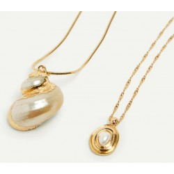 Shell Choker Gold Color Necklaces For Women