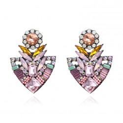 Pendientes Luxury cristal en forma de flor