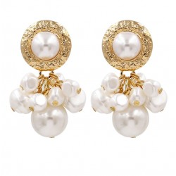 Maxi Pearl Dangle Drop Earrings