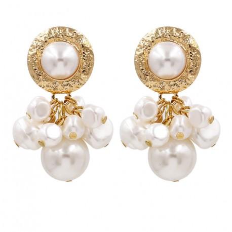 Maxi Pearl Dangle Drop Earrings