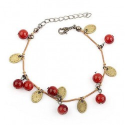 Pulsera con arandanos rojos