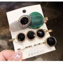 Set conjunto de 3 horquillas con cristales negras