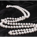 White Freshwater Pearl Necklace size 9-10mm