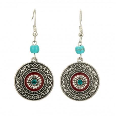 Ethnic Bohemia Round Circle Women's Vintage Earrings