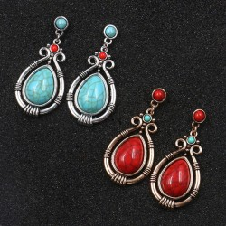 Water Drop Earrings for Women Ethnic Vintage Style