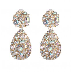 Fashion Maxi Statement Earrings Waterdrop With Crystals