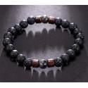 Elastic Natural Lava Stone Beads Yoga Bracelet