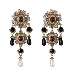 Extra Large Bohemian Chic India Ethnic Style Earrings