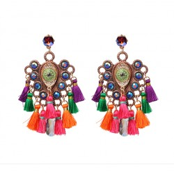 Bohemian Style Long Fringed Tassel Earrings Maxi XXL
