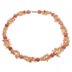 Natural Pink Coral Beads Necklace