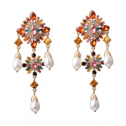 Extra Large Bohemian Chic Indian Jewelry Style Earrings
