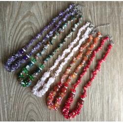 Collar de Piedras sempreciosas y cristales/coral