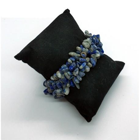 Sodalite Natural Stone Chips Beads Bracelet