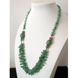 Natural Green Aventurine Chip Beads Necklace