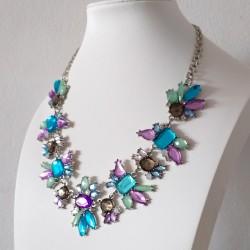 Luxury Crystal Flower Statement Necklace