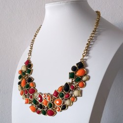 "Colourful Chocker necklace ""Primavera"""