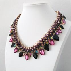 Water Drop Purple Crystal Choker Necklace