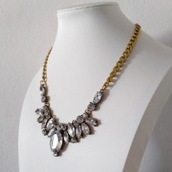 Crystal Bib Statement Necklace Montpellier