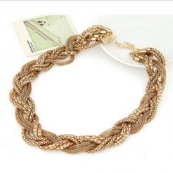 Multi-layer Chain Gold Twist Necklace Monte Carlo