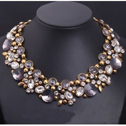 Crystal Choker Statement Necklace Chambéri