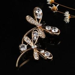 Broche con pareja de preciosas libélulas