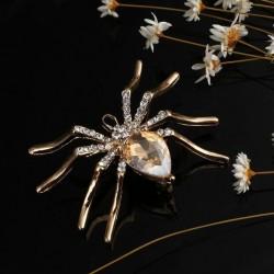 Broche dorado con forma de tarántula o araña