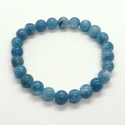 Natural Aquamarine Beads 8mm Bracelet