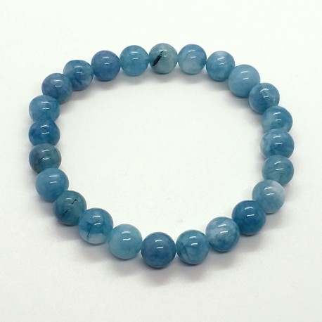 Natural Aquamarine Beads 8mm Bracelet