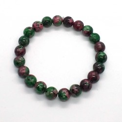 Natural Stone Zoisite Anyolite Beads 8mm Bracelet
